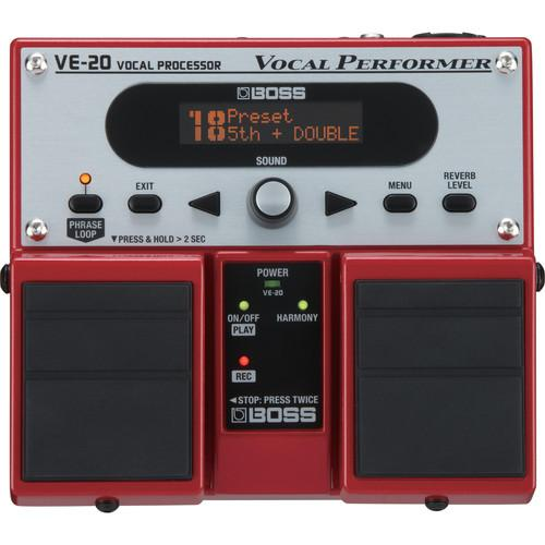 BOSS VE-20 VOCAL PERFORMER - EFFECTS PROCESSOR FOR VOCALISTS