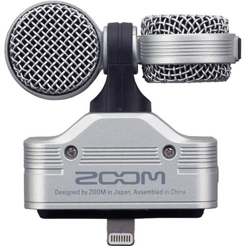 Zoom Iq7 Mid-Side Stereo Microphone Zoomiq7 Mid-Side Stereo Microphone For Ios Devices With Lightning Connector - Red One Music
