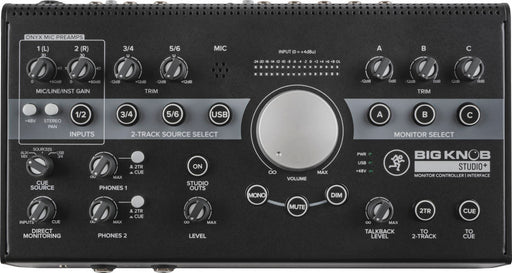 Mackie Big Knob Studio + contrôleur de moniteur de studio 4x3 | Stock B d'E / S USB 192 kHz - Red One Music