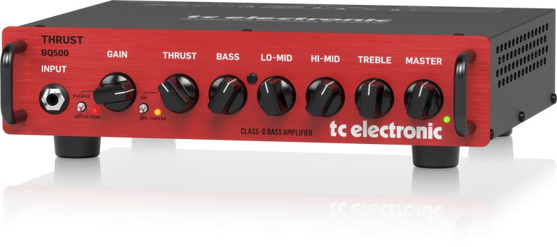 TC Electronic BQ500 Portable Bass Head with MOSFET Preamp and Thrust Compressor, Channels Single Channel, Solid State, Amplifier Heads