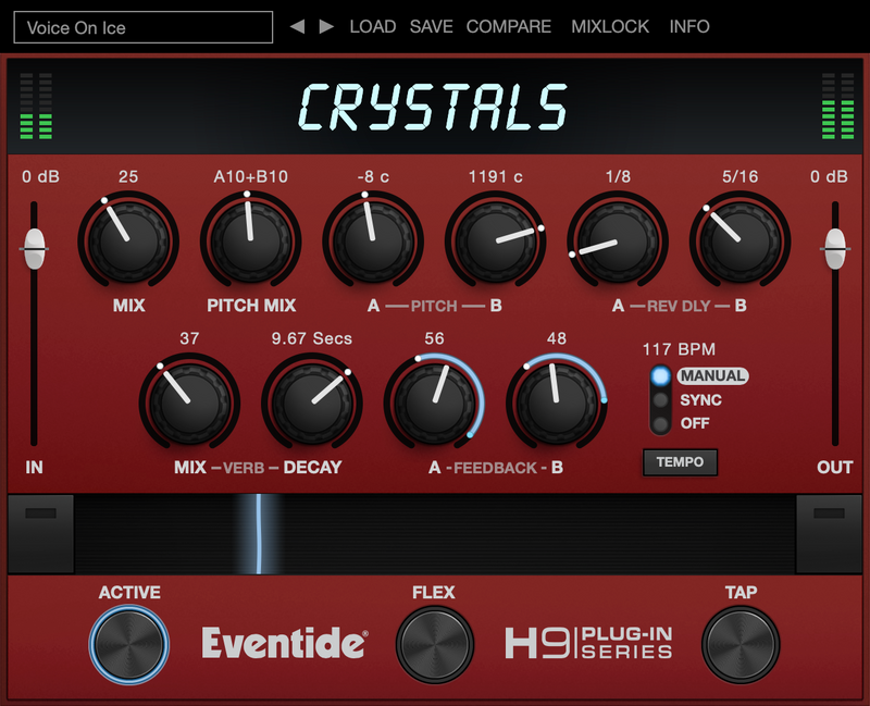 Eventide Crystals Twin Reverse Pitch Shifters & Reverb Plug-in (Download)