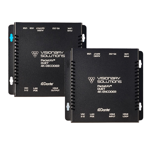 Visionary Solutions DUET-ENCODER -  4K UHD Over-IP Cinema Quality Ultra-Low Latency Visually Lossless Switch Matrix Routable Encoder