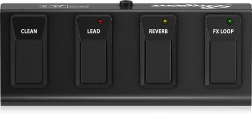 Bugera FSB104A Heavy-Duty 4-Button Footswitch with Metal Case and Control LEDs