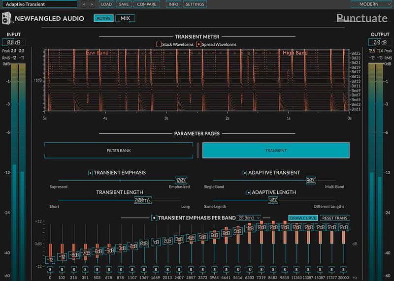 Newfangled Audio Punctuate Intelligent Transient Shaper Plug-in (Download)