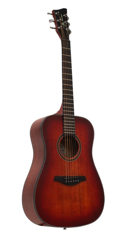 Jay Turser JTA53-SRD - 3/4 Scale Dreadnought Acoustic Guitar - Satin Red