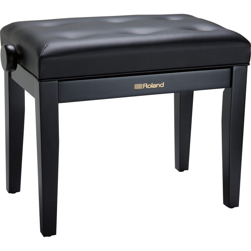 Roland RPB-300BK Piano Bench with Adjustable Cushioned Seat - Satin Black
