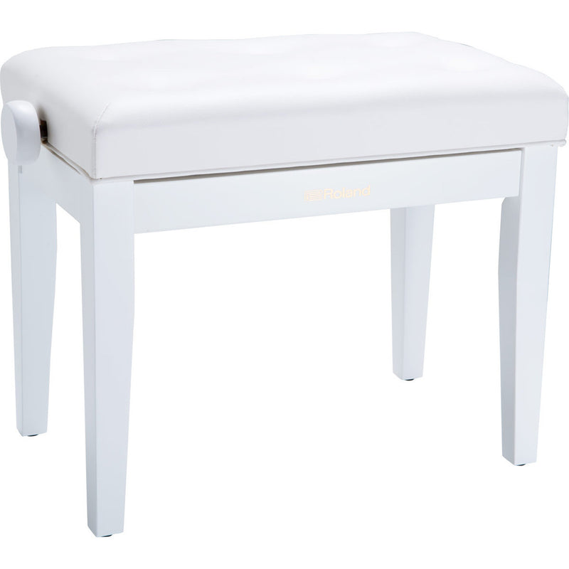 Roland RPB-300WH Piano Bench with Adjustable Cushioned Seat - Satin White