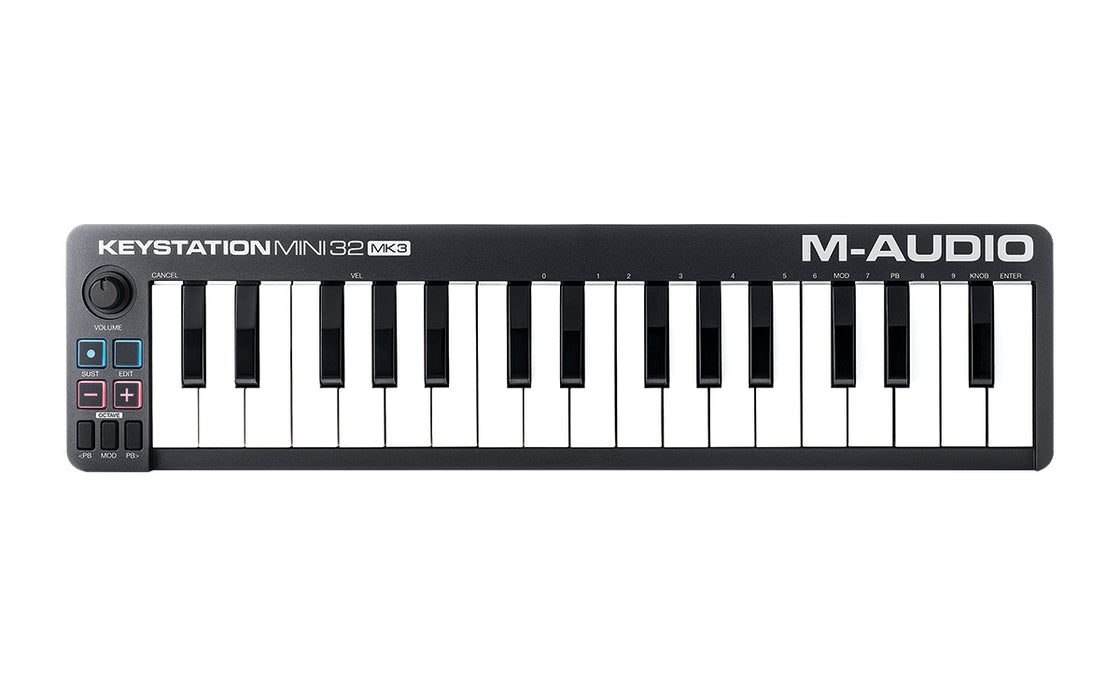 M-Audio Keystation Mini 32 Mk3 Portable Keyboard Controller - Red One Music