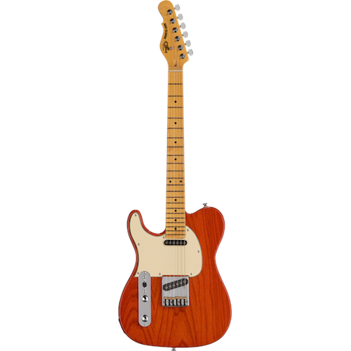 G&L ASAT CLASSIC Lefty Clear Orange - Red One Music