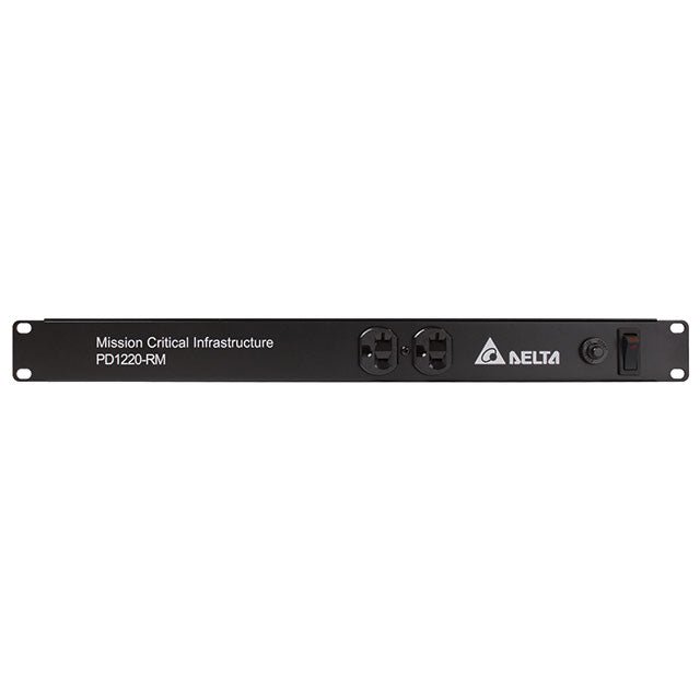 Delta PD1220-RM Basic 1U 15 ft Rack Mount Power Distribution Unit - Red One Music