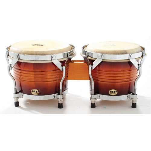 Mano Percussion Mp-1778 Ensemble de bongos «7» «Sun Burst 8» avec jantes traditionnelles