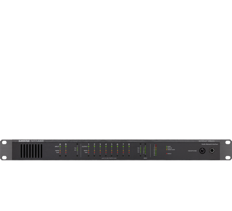 Shure MXWANI8 8-Channel Audio Network Interface