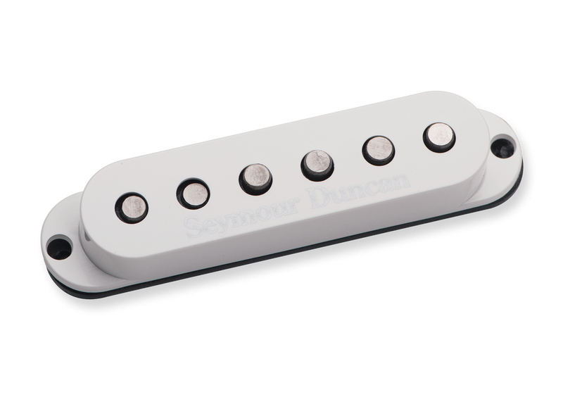 Seymour Duncan 11202-05-RWRP-L SSL-5L Custom Staggered Strat Rev Wound Rev Pol Lefty White
