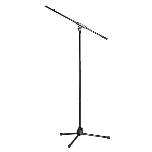 K&M 27105 Black Tripod Microphone Stand With Boom - Height 3550 - 6350 9017 - 16129Cm Black - Red One Music