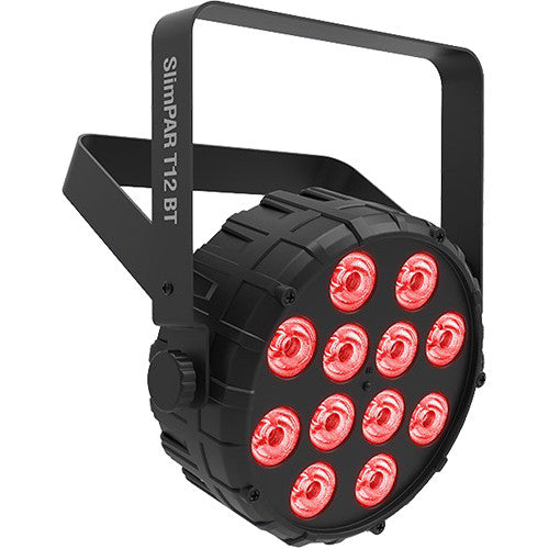 Chauvet Dj Slimpar T12 BT RGB Par Can W/ Bluetooth 12 x 3W - Red One Music