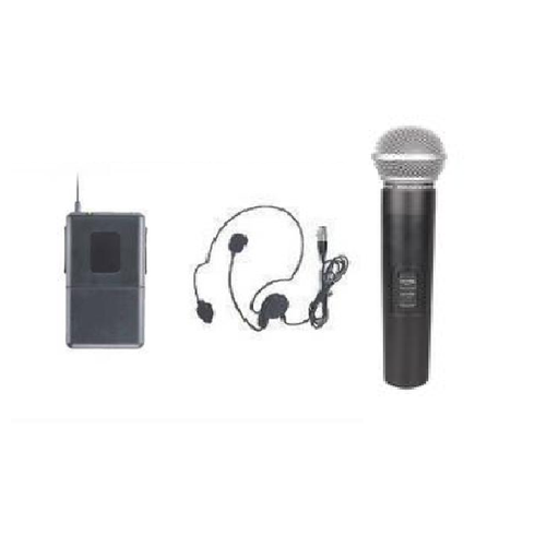 Système de microphone sans fil Music8 M8-2828 HH HS - Red One Music