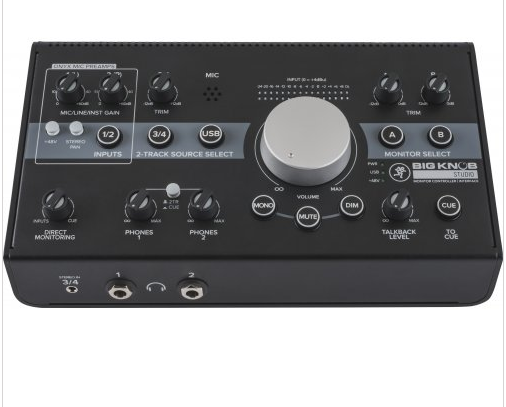 Mackie Big Knob Studio 3x2 Studio Monitor Controller | 192kHz USB I/O - Red One Music