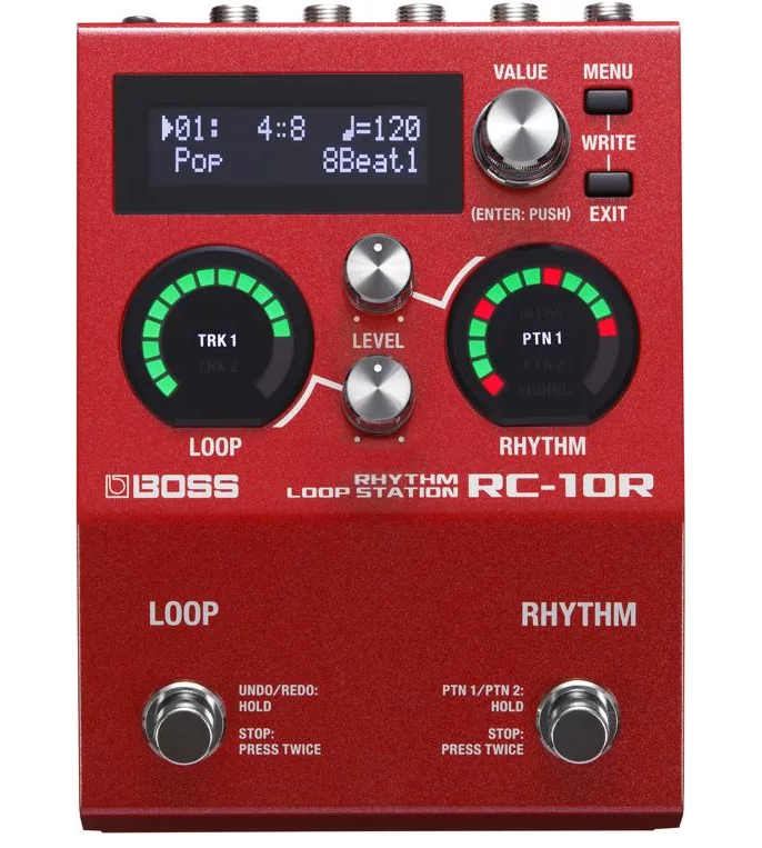 Boss RC-10R Rhythm Loop Station Pedal - Red One Music