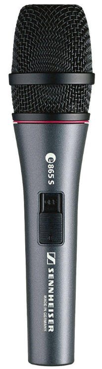 Sennheiser E865-S Handheld Supercardioid Condenser Microphone with Noiseless On/Off Switch