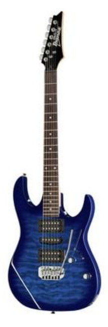 Ibanez GRX70QATBB GIO Series 6 String Rh Electric Guitar Intransparent Blue Burst