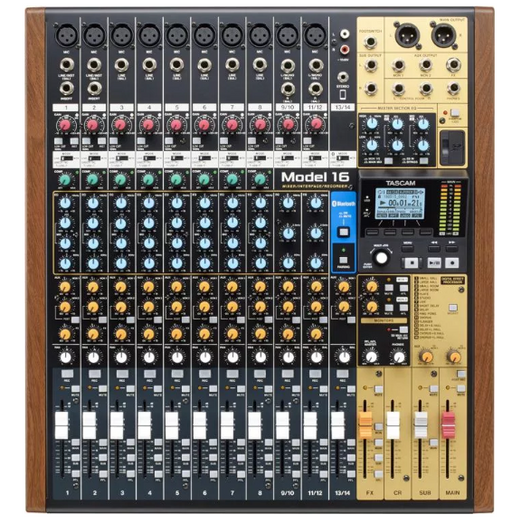 Tascam Model 16 Mixer 14-channel Analog Mixer with 16-in/14-out USB Audio Interface
