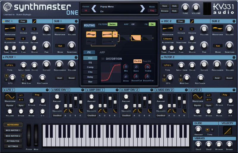 KV331 Audio SynthMaster One - Wavetable Synthesizer Plug-In - Crossgrade from SynthMaster Player (Download)