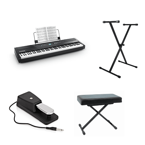 Alesis Recital Pro Stand Bench Piano Bundle