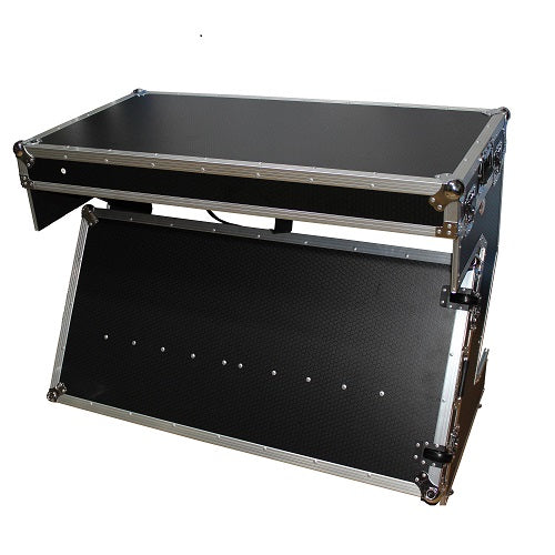 Prox XS-ZTABLE Portable Z-Style Dj Table Flight Case - Red One Music
