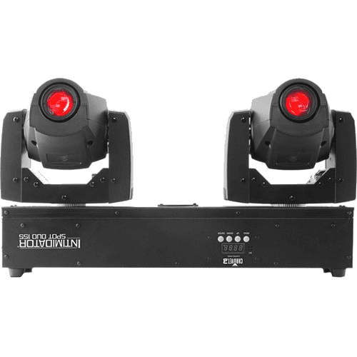 CHAUVET INTIMIDATOR SPOT DUO 155 TWO POWERFUL INTIMIDATOR SPOT LED 155 MOVING HEADS PRE-MOUNTED ON A SINGLE BAR