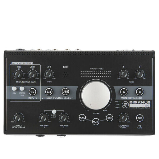Mackie Big Knob Studio 3x2 contrôleur de moniteur de studio | Stock B d'E / S USB 192 kHz - Red One Music
