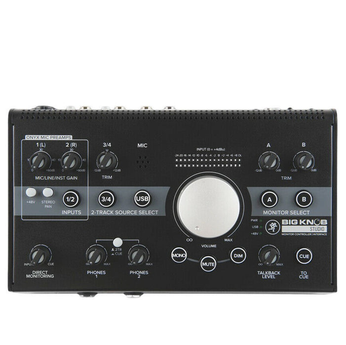 Mackie Big Knob Studio 3x2 Studio Monitor Controller | 192kHz USB I/O B-Stock - Red One Music