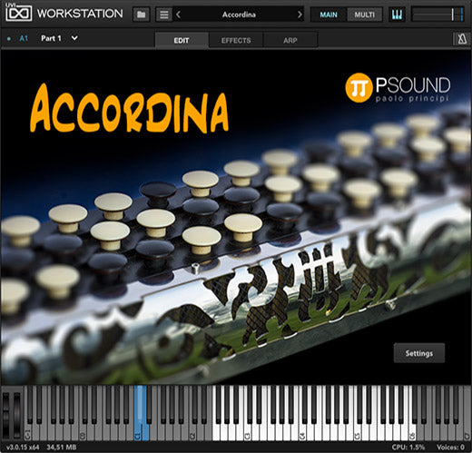 PSound Accordina Virtual Instrument (Download)