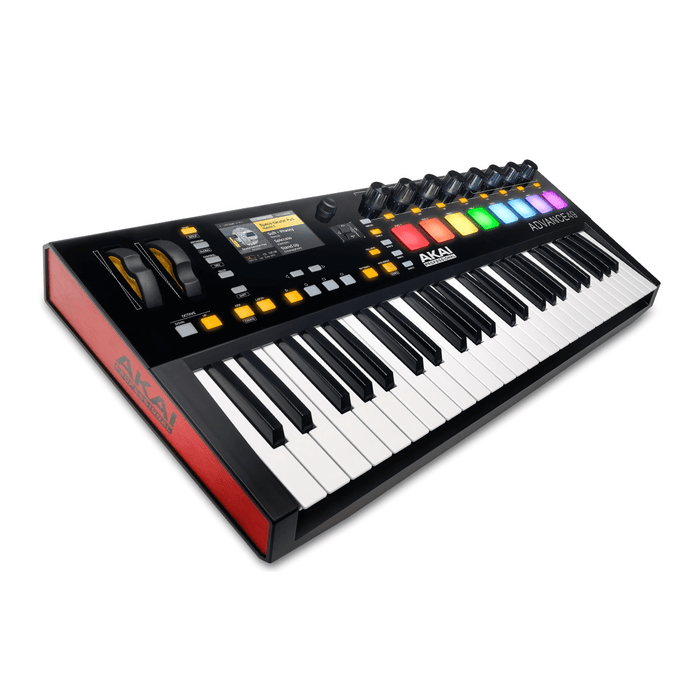 Akai Advance 49 Keyboard Controller Virtual Instrument Production Controller With Full-Color Lcd Screen