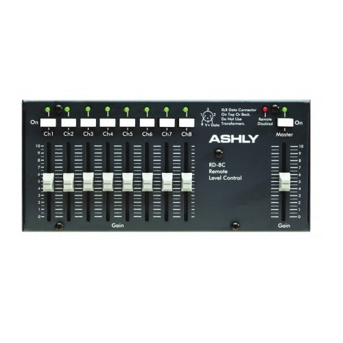 Ashly Rw-8C Wallmount 8-Ch + Master Level Controller. Hardwires To Ashly Remote Data Port