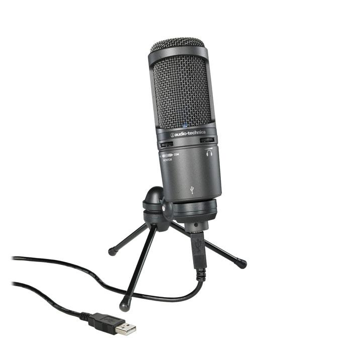 Microphone usb à condensateur cardioïde Usb Plus Audio Technica At2020