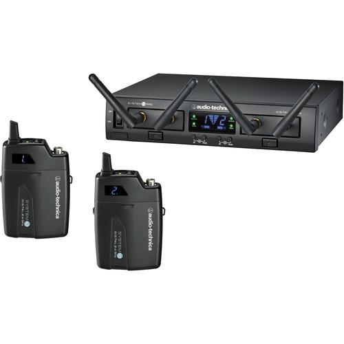 Audio-Technica Atw-1311  System 10 Pro Rack-Mount Digital Dual Unipak Transmitter System24 Ghz