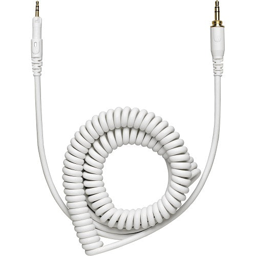 Audio-Technica Hp-Cc Replacement Cable For Ath-M50Xwh Headphones (White, Coiled)