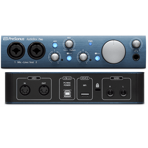 Interface audio USB PreSonus AUDIOBOX ITWO - Red One Music