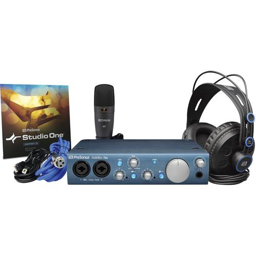 PreSonus AUDIOBOX ITWO STUDIO Complete Mobile Hardwaresoftware Recording Kit - Red One Music