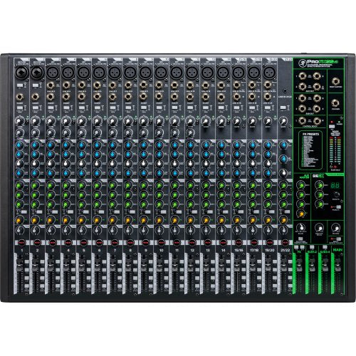 Mackie ProFX22v3 22-Channel 4-Bus Professional Effects Mixer with USB - Red One Music