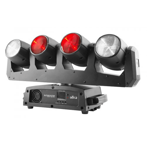 Chauvet Intimidator Wave 360 Stunning Moving Light Array With 4 Independently Controlled Heads On A Rotating Base - Red One Music