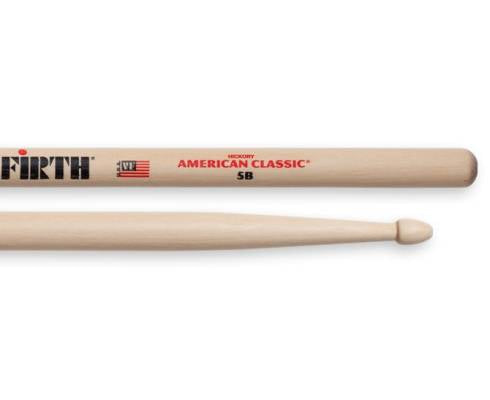 Vic Firth 5B American Classic (Hickory/Wood Tip) - Red One Music