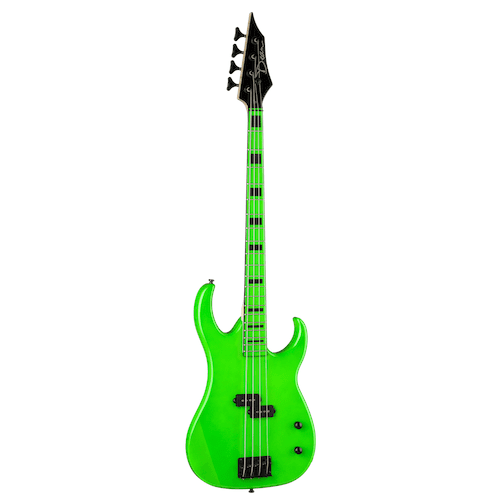 Dean Czone Bass Ng Custom Zone - Nuclear Green - Red One Music