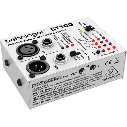 Testeur de câble Behringer Ct100 - Red One Music