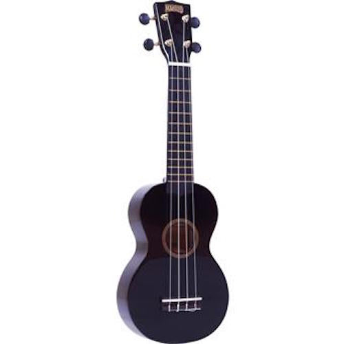 Mahalo Mr1-Bk Soprano Ukulele W/ Bag Rainbow Series - Black - Red One Music