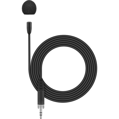 Sennheiser MKE Essential Omni-Black Omnidirectional Microphone with 3.5mm Connector (Black) - Red One Music