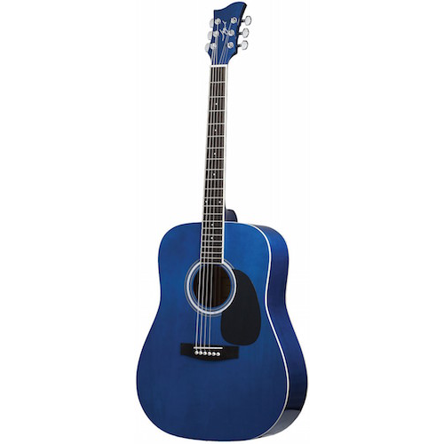 Jay Turser Acoustic Guitar Blueburst Quilted Jta524-Blsbq - Red One Music
