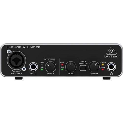 Behringer UMC22 USB Audio Interface - Red One Music