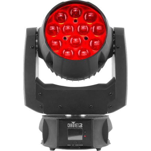 Chauvet Intimidator Wash Zoom 450 Irc Lave-têtes compacts à fonctions mobiles équipés de Leds RVB Quad-Color 15 W - Red One Music