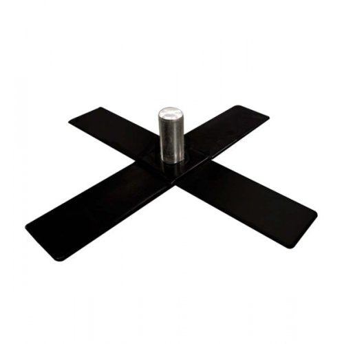 Burger Lighting Pipe And Drape Base (2IN Pipe) - Cross Base